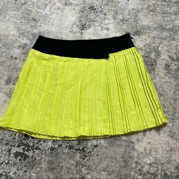 S W118 by Walter Baker Yellow Britney Pleat Skirt